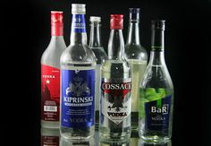 4 Ways to Host a Blind Vodka Tasting Party - 6 different unflavored vodkas