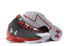 promo code e62c6 bc89a Shop Under Armour Curry One Custom Gray White Red Sneaker Top Deals black,  grey, ...