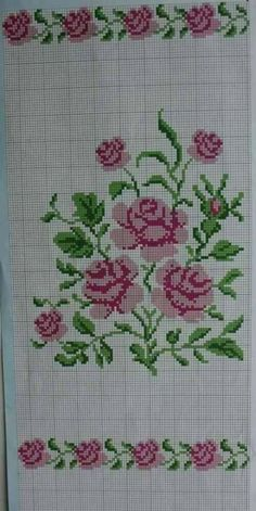New Ideas embroidery patterns cross stitch flowers beautiful Cross Stitch Letters, Cross Stitch Heart, Cross Stitch Borders, Cross Stitch Samplers, Cross Stitch Flowers, Cross Stitching, Cross Stitch Embroidery, Embroidery Patterns, Funny Cross Stitch Patterns