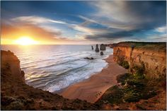The Sun Sets on the Apostles   by Extra Medium