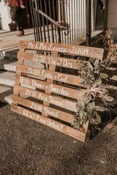 rustic wedding signage Outdoor Wedding Reception, Wedding Signage, Rustic Wedding, Wedding Ceremony, Wedding Ideas, Outdoor Weddings, Wooden Signs, Real Weddings, Castle