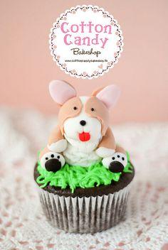 Corgi cupcake!