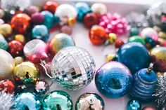 disco ball ornaments!