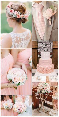 O rose quartz também combina muito bem com diversas tonalidades de verde, desde esta mais clássica até um verde mais para turquesa, para um casamento mais divertido e cheio de cor. Saiba como organizar um casamento Rose Quartz!