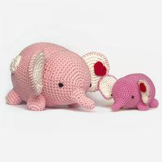 Love And Star Elephant Amigurumi Pattern