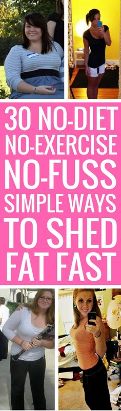 30 no-fuss ways to lose weight fast.