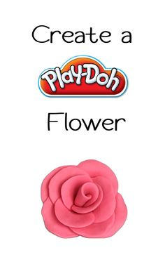 Imaginative Flower Creation made with Play-Doh compound