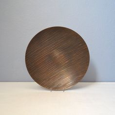 Vintage Hand Made Bronze Plate with Applied by MidModMomStore
