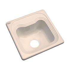 Oxford Drop-In Acrylic 16 in. Single Bowl Bar Sink in Peach Bisque