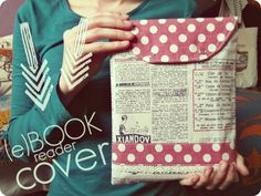 marysza, e-book, cover, reader, ebook, vintage, retro, dots, fabric, sewing, newspaper, lace, marysza. handmade goods made with love