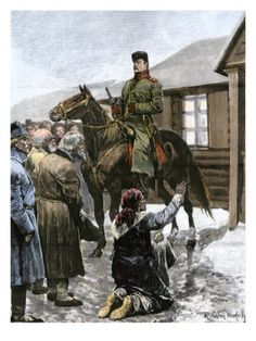 Russian Peasants Near St. Petersburg Begging Soldiers for Bread, 1890s Giclee Print at Art.com