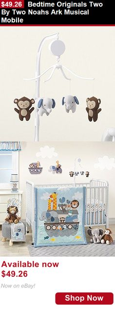 Wall Hangings: Bedtime Originals Two By Two Noahs Ark Musical Mobile BUY IT NOW ONLY: $49.26