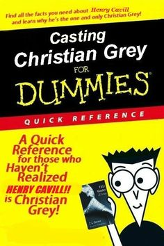 Henry Cavill as Christian Grey <3