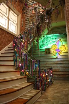 Mardi Gras New Orleans Stairs