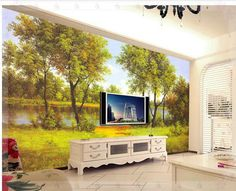 New large wallpaper Custom wallpaper landscape painting murals painted murals wall paper papel de parede wall stickers 9114 KITC