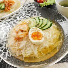 さっぱり冷麺風!シャキっとネバネバ長芋そうめん - macaroni