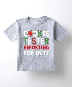 Take a look at this Athletic Heather 'Cookie Tester' Tee - Toddler & Kids today!