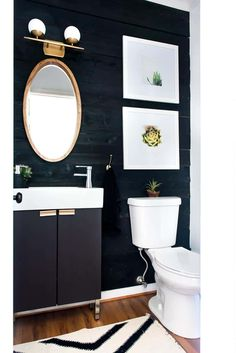 Inexpensive Diy Shiplap Wall Ideas For Your Shiplap Bathroom Wall, Diy Bathroom Decor, Small Bathroom, Bathroom Canvas, Bathroom Ideas, Master Bathroom, Relaxing Bathroom, Bathroom Updates, Bathroom Black