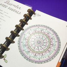 My current obsession is my mood mandala! I love it.