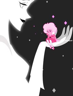 White Diamond and Pink Diamond from Steven Universe. Diamante Rosa Steven Universe, Perla Steven Universe, Pink Diamond Steven Universe, Steven Universe Theories, Steven Universe Movie, Universe Art, Steven Universe Fan Fusions, Steven Universe Wallpaper, Fanart