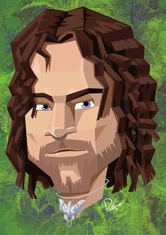 Viggo Mortensen in the role of Aragorn - caricature by Ribosio #thelordoftherings