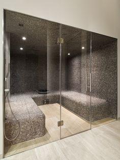 Ideas For Bathroom Design Shower Steam Room Home Steam Room, Sauna Steam Room, Sauna Room, Steam Bath, Saunas, Bathroom Design Luxury, Bathroom Interior, Dream Bathrooms, Amazing Bathrooms