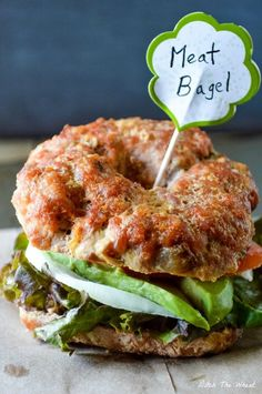 """Carb free Recipes --Lunch--  Meat Bagels  """"- Get some delicious protein and skip the carbs with this high protein bagel recipe.""""  """"1 ½ onions, finely diced 1 tbsp of butter/grass fed ghee/bacon fat etc. 2 pounds of ground pork 2 large eggs 2/3 cup tomato sauce 1 tsp paprika 1 tsp salt ½ tsp ground pepper"""""""