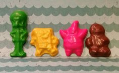 Spongebob and friends crayons by KrazyKoolKrayons on Etsy