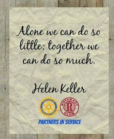 Rotary rotaract partners in service
