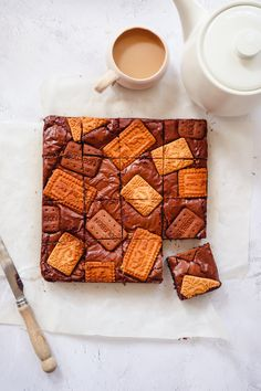 Tea and Biscuit Brownies — Baking Martha Malted Milk Biscuits, Bourbon Biscuits, Baking Recipes, Dessert Recipes, Desserts, Baking Ideas, Afternoon Tea Recipes, No Bake Brownies, Delicious Magazine