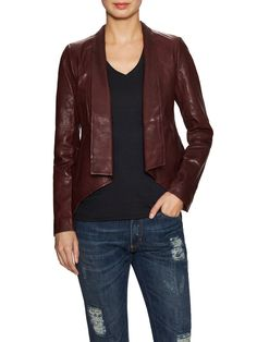 Leather Shawl Collar Jacket from Leather Weather on Gilt