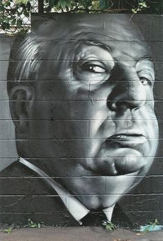 "(Pin 10 | Cont'd from Pin 5):  Street Art 360° on Twitter: ""Alfred Hitchcock on the wall 