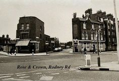 London History, Local History, Family History, London Pictures, London Photos, Vintage London, Old London, Elephant And Castle, Rose Crown