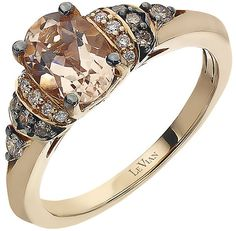 Le Vian Chocolatier Le Vian 14ct Strawberry Gold Peach Morganite & #diamond ring
