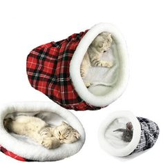 Leowow Cat Sleeping Bag Pet Bed Warm Soft Puppy Kitty Cat Sack Bed Red -- See this great product. (This is an affiliate link) Christmas Hat, Christmas Animals, Christmas Costumes, Unicorn Stuffed Animal, Dog Suit, Puppy Beds, Small Dog Clothes, Cat Sleeping, Sleeping Bags