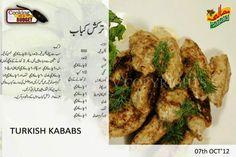 Turkish kebab Cooking Recipes In Urdu, Easy Cooking, Seekh Kebab Recipes, Puri Recipes, Cutlets Recipes, Turkish Recipes, Indian Food Recipes, Ramzan Recipe, Masala Tv Recipe