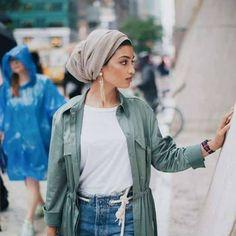 Military khaki hijab style – Just Trendy Girls
