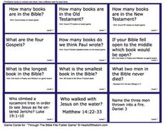 Books of the Bible Lapbook  Folder Game for Sunday School