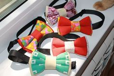 Double bow ties for dogs (11/6,5 cm), hand made, can be attached to the collar, or bow tie with collar (10/6 cm with adjustable length max 45 cm).