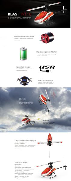 Rotor Diameter: 245 mm Body Length: 270 mm Height: Flying weight: Battery: Flight time: About minutes Main Motor: Brushless 1106 Tail Motor: Brushed 0716 Control Distance: About Helicopter Rotor, Airplane Car, 3d Mode, Fpv Drone, Bnf, Solar Energy, Holidays And Events, Remote, Scenery