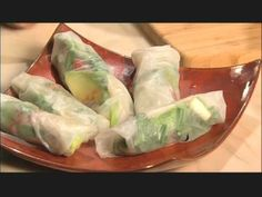Rice Paper Rolls with #Avocado and Sun-Dried Tomato  #rawfood