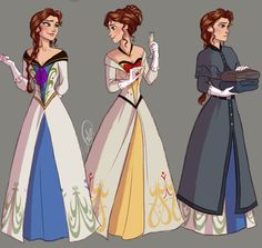 "Fem!Hans by juliajm15.deviantart.com on @deviantART - Genderbent version of Hans from ""Frozen"". Okay, I've seen a number of these genderbends on the Internet, and I just want to say: genderbends of Hans have some of the best costume designs I've ever seen in Disney fanart, period."
