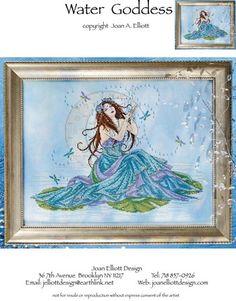 Water Goddess - Cross Stitch Pattern-A Joan Elliott design