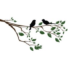 Branch Wall Decal Tree Branch with birds Wall Decal by ArtLabNY, $19.99