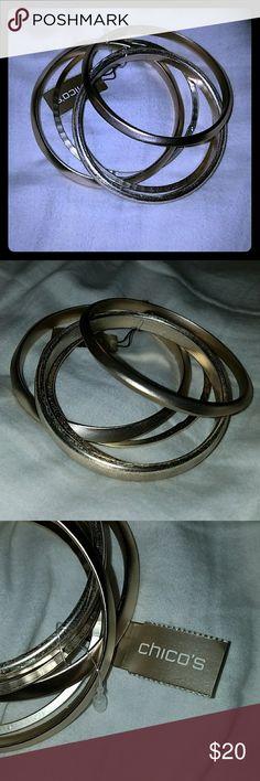 *Sale* NWT Chico's Bangle Set NWT Gold & Silver Chico's Bangle Set Chico's Jewelry Bracelets