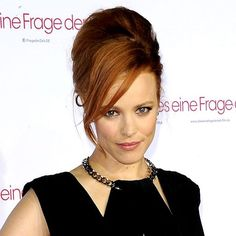Rachel McAdams with a beehive hairstyle