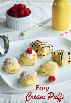easy cream puffs - A
