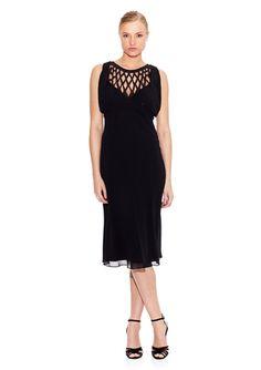 CATHERINE MALANDRINO Noir Dress with Overlay