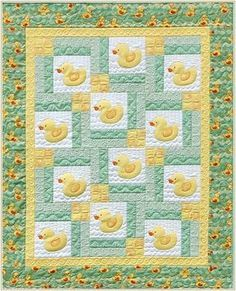 Turn Around Baby ducky quilt pattern – Quilt Patterns Quilt Baby, Cot Quilt, Baby Girl Quilts, Girls Quilts, Children's Quilts, Quilting Projects, Quilting Designs, Applique Quilt Patterns, Patchwork Baby