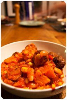 Favourite slow cooker recipes - sausage bean chorizo stew